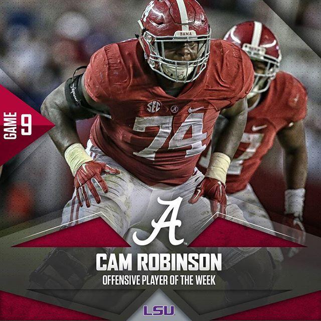 Cam Robinson Alabama Crimson Tide Football Jersey-Red