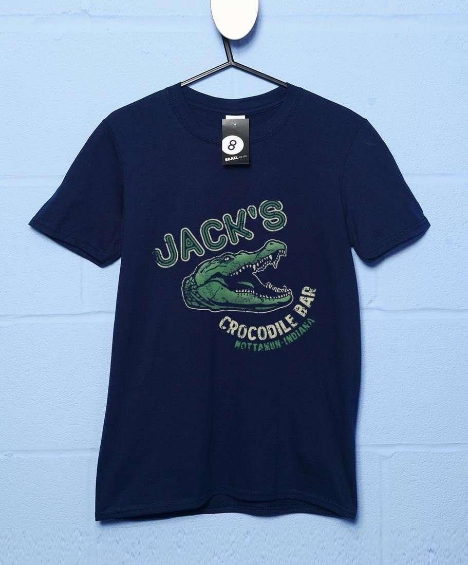 Jack's Crocodile Bar T Shirt - Navy / Large