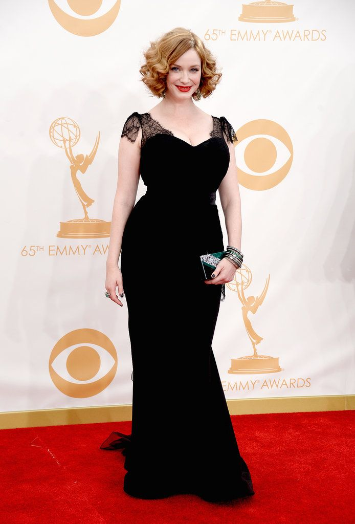 Christina Hendricks in Christian Siriano at Emmys 2013