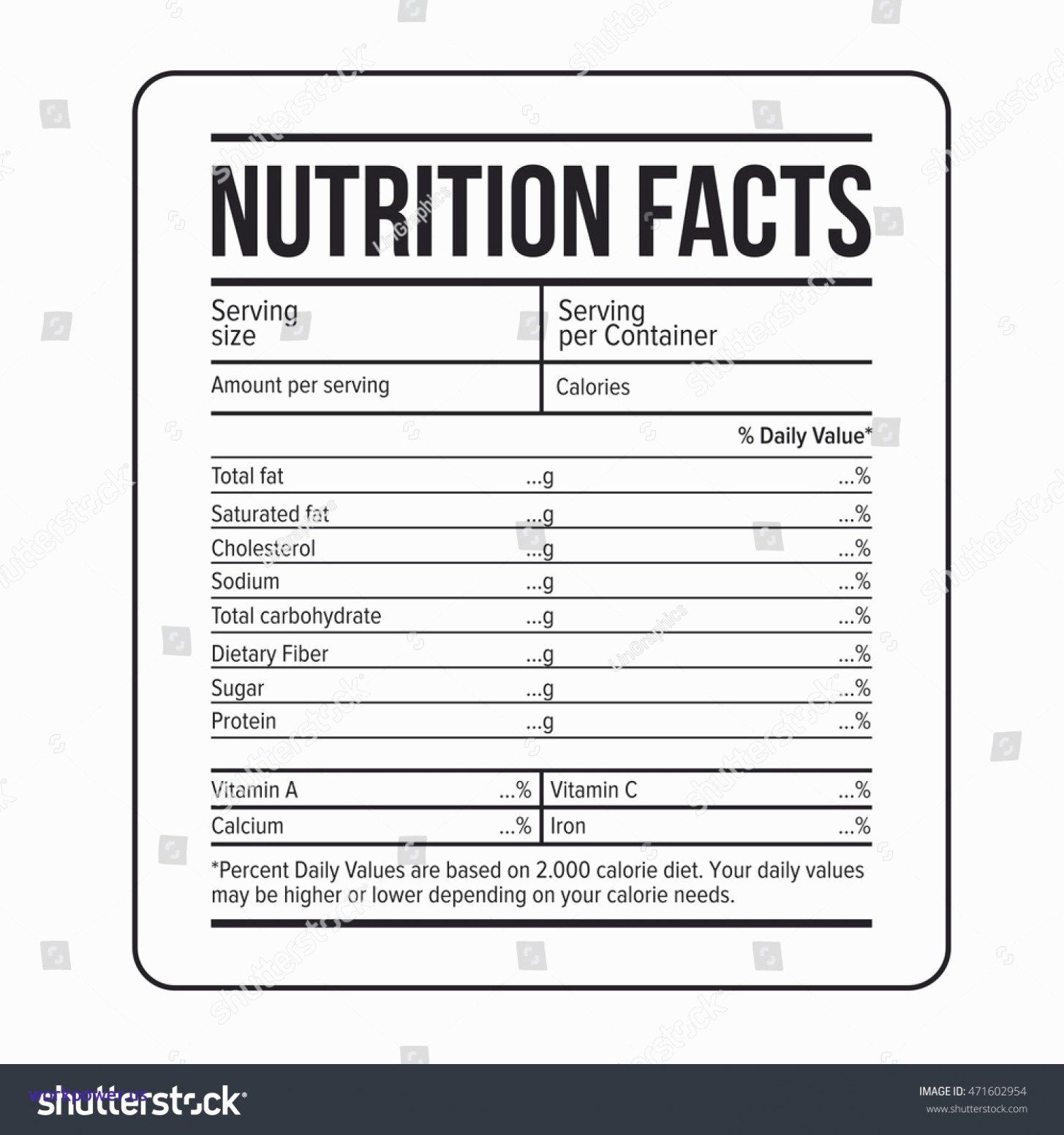 Blank Nutrition Label Worksheet Awesome What S So Trendy