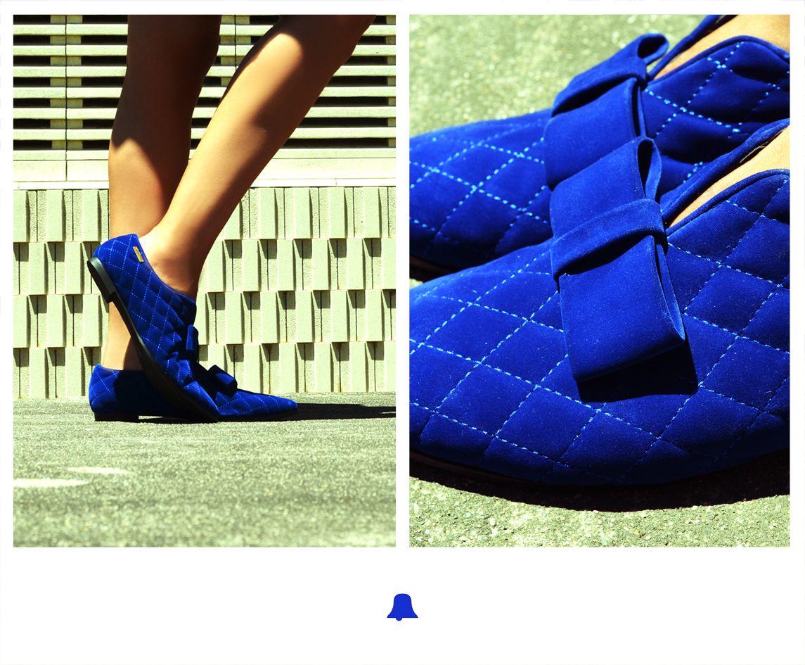 ☆ NEW ARRIVALS ☆   Adelanto Invierno 2013. Exclusivo en Bellmur Punta del Este & La Barra ♥  Zapato de terciopelo capitoneado con moña.