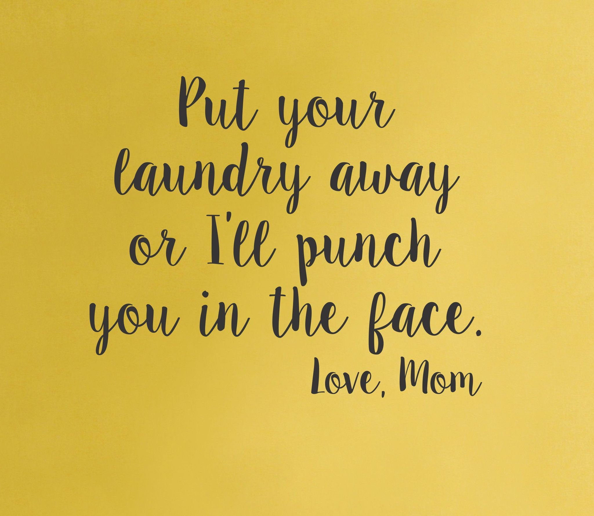 Laundry room wall decal - Love Mom - home decor quote funny lol ...