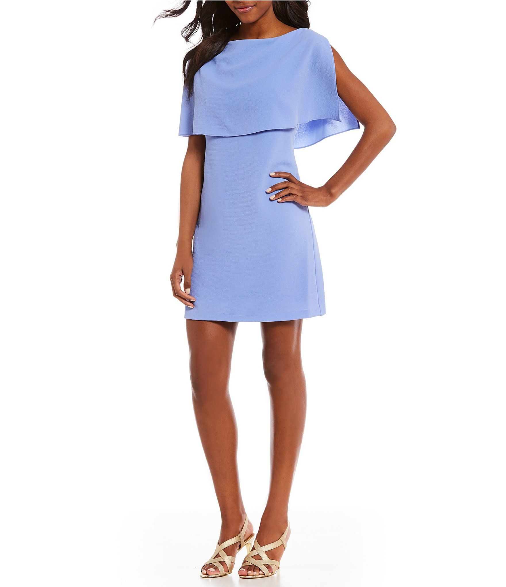 Shop for Adrianna Papell Split Sleeve Popover A-Line Dress ...