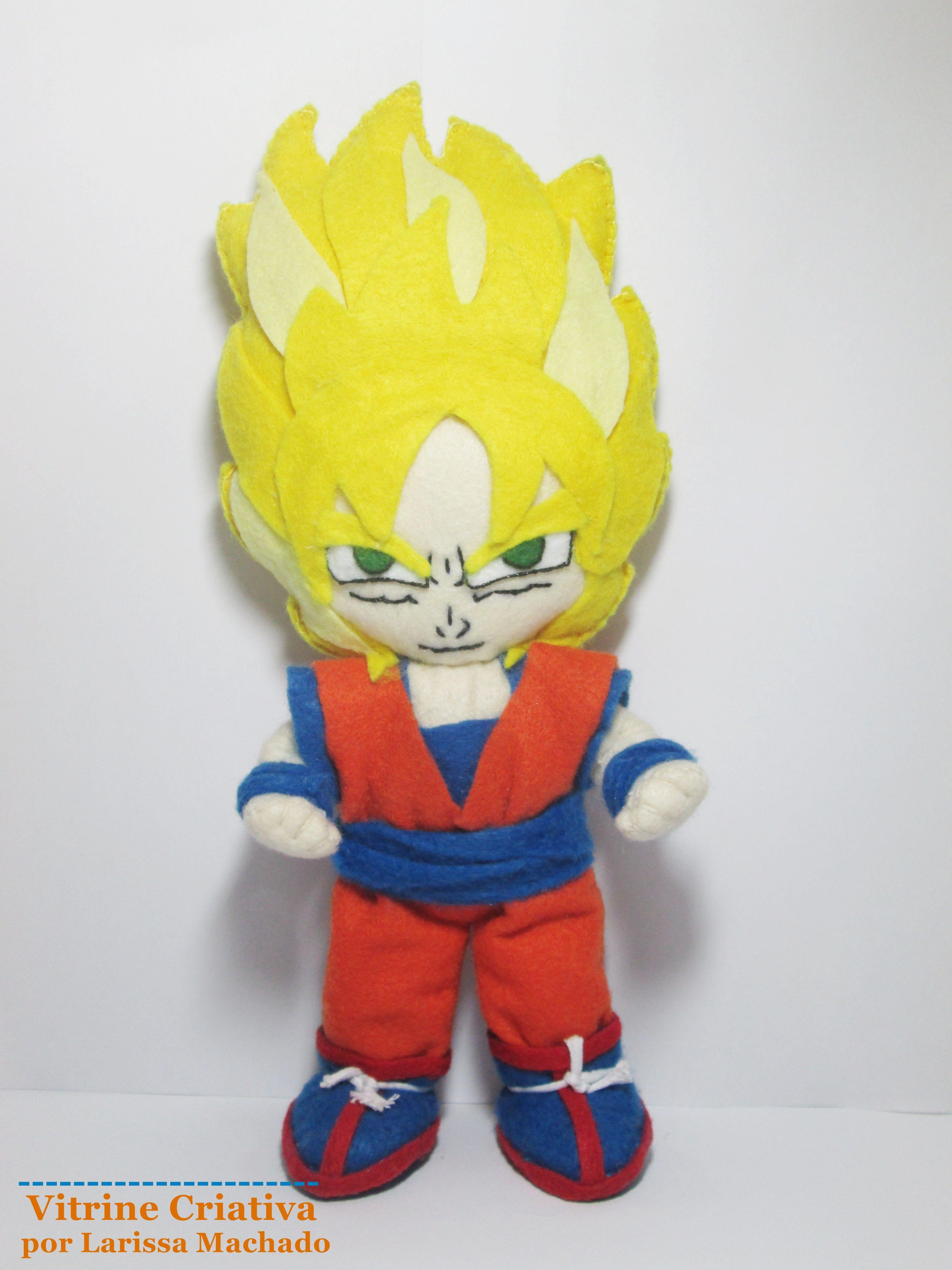Goku ( Dragon Ball Z ) Feltro. Felt. Plush. Doll. Boneco.   Vitrine ...