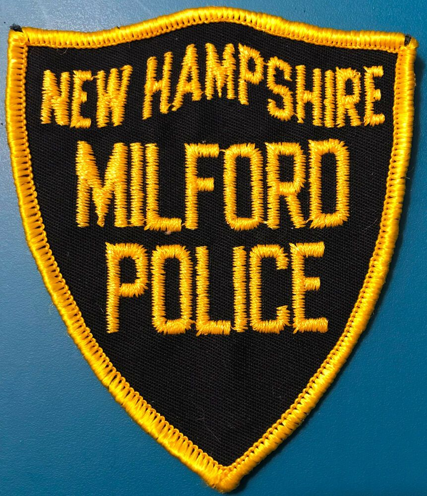 Milford New Hampshire Police Patch Hampshire police