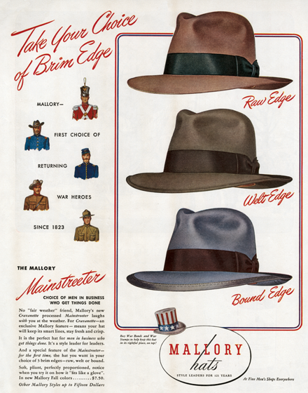 Men s Hats of the 1940s  3f70ab25bcd9