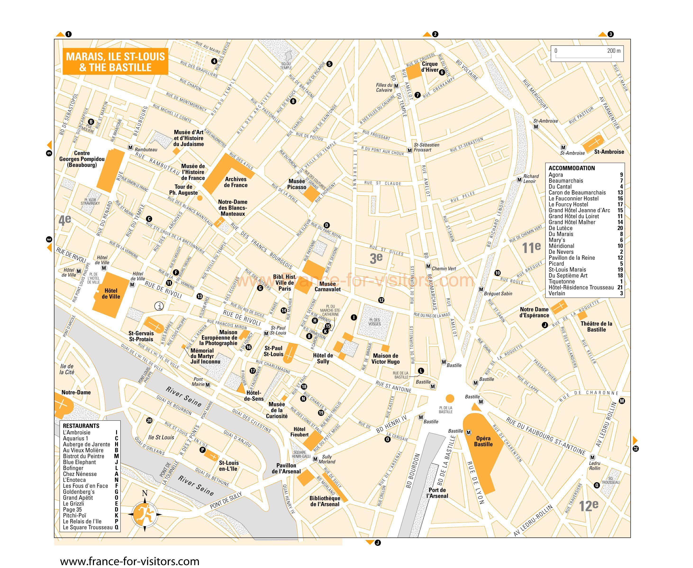 Marais Paris France Map World Map Pinterest Paris France And - Map of paris bastille