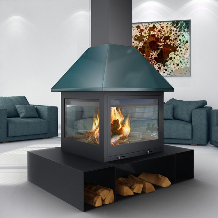 Traforart Sandra Central Wood Burning Stove From Fireplace Products