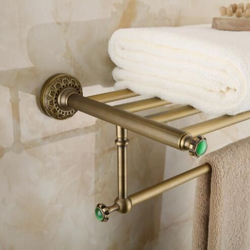 Free shipping wall mount Europe style total brass Bathroom towel ...