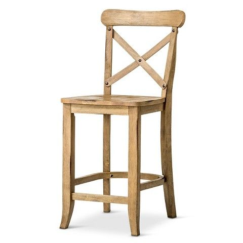 French Country X Back 24 Counter Stool In Wheat Target 104 99