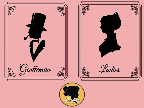 Ladies And Gentleman Restroom Sign Svg Dxf Clipart Svg Files For