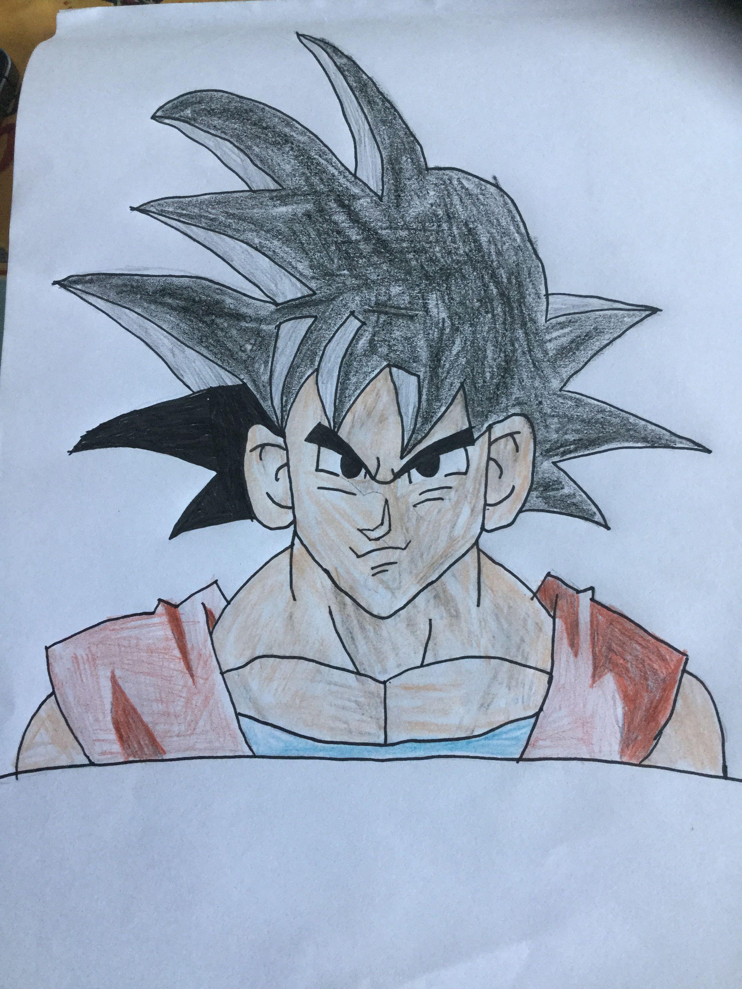 Easy goku drawing pencil