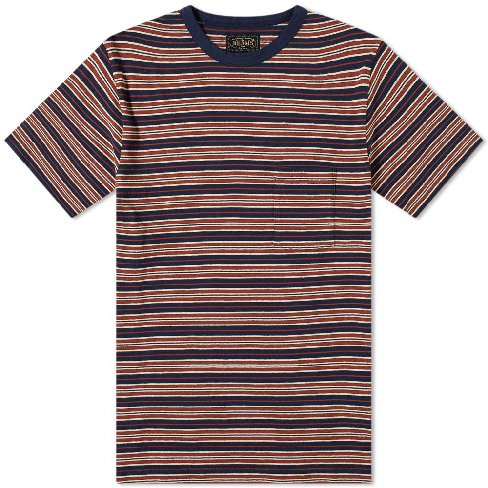 280ff99b414 Beams Plus Nep Stripe Pocket Tee | Stripe | Beams, Tees, Stripes design