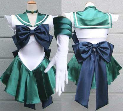 Anime Sailor Moon Costume Super Sailor Neptune Cosplay Dress custom made