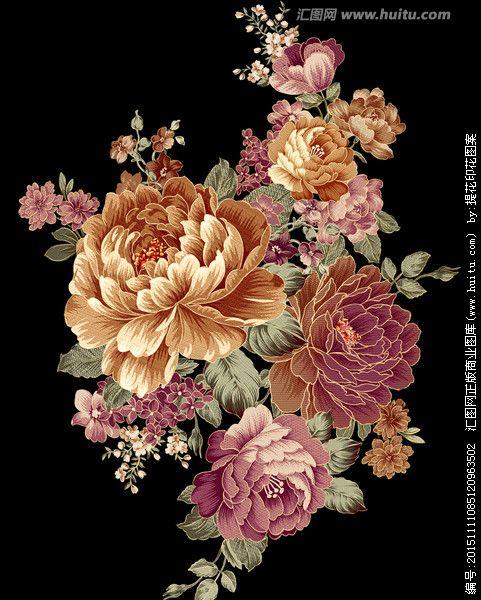 牡丹花 富贵牡丹 flower art flower painting watercolor flowers