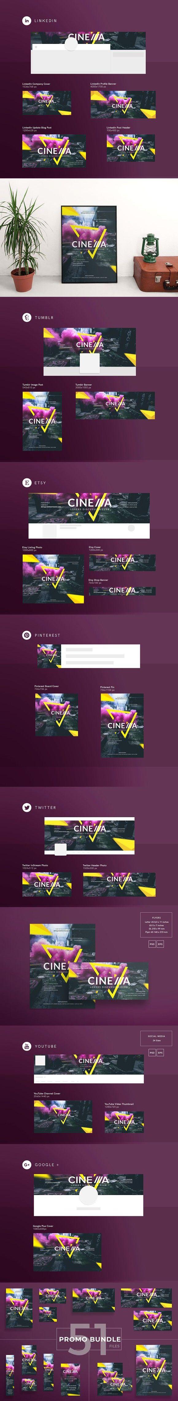 promo bundle cinema club club design pinterest social media