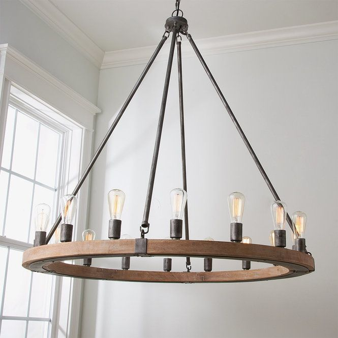 Industrial Farmhouse Chandelier #industrialfarmhouse