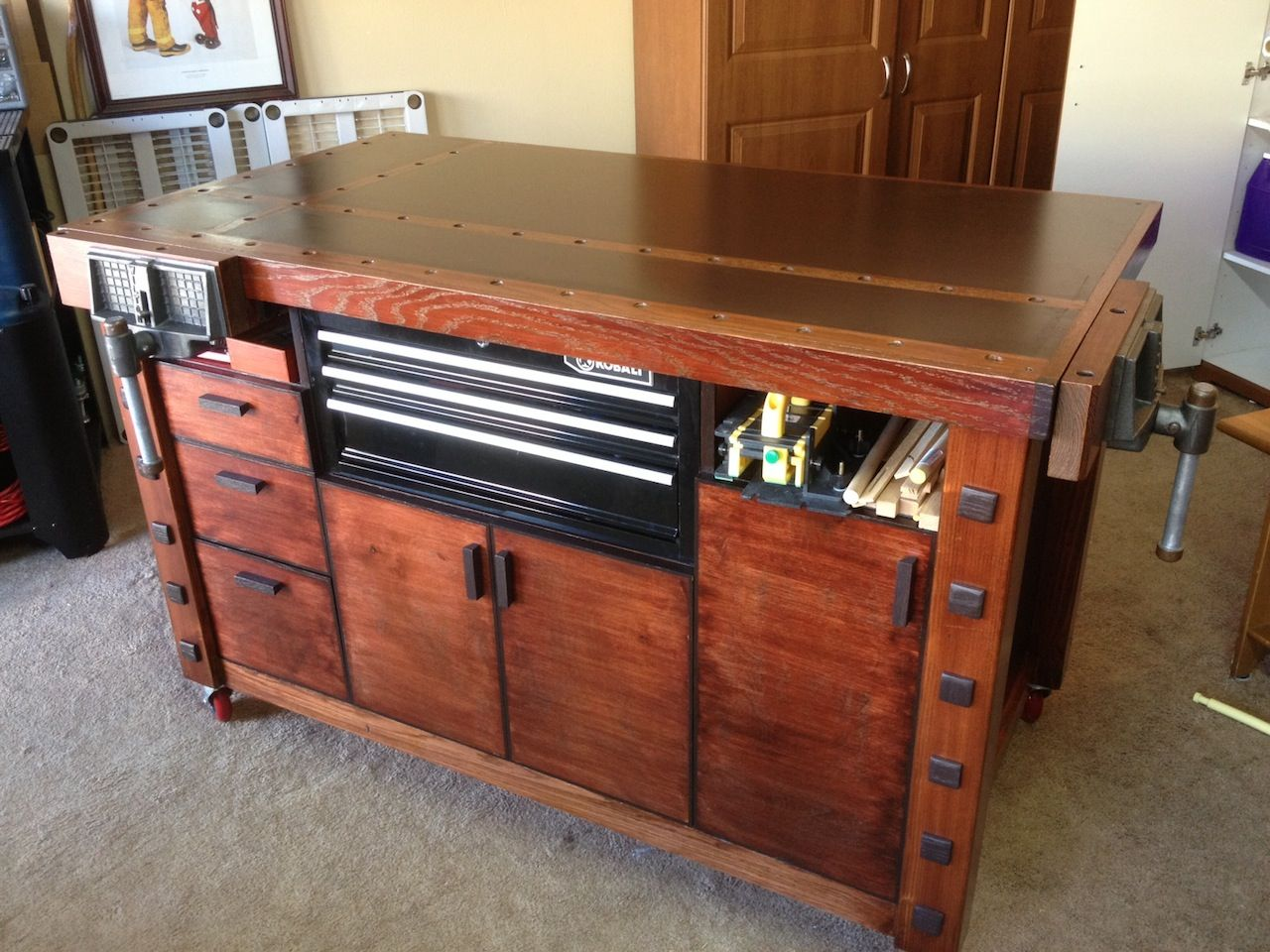Check Out This Very Cool Workbench Industrial Rustic