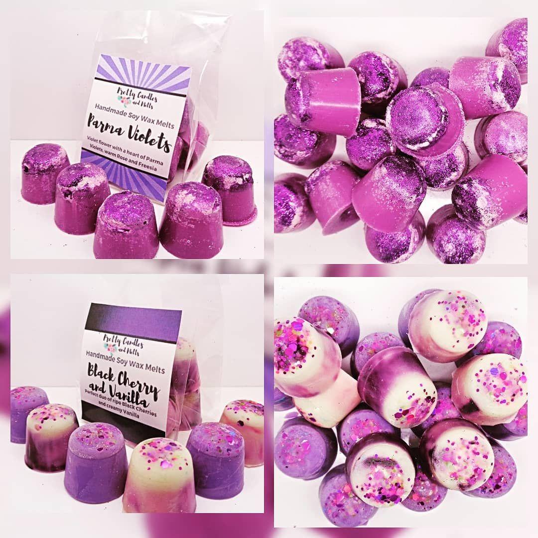 2 Parma Violets /& 2 Rhubarb /& Custard Scented Wax Tarts Sweet Shop Wax Tarts