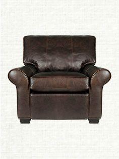 ARHAUS Brentwood Motion Leather Recliner In Matador Walnut