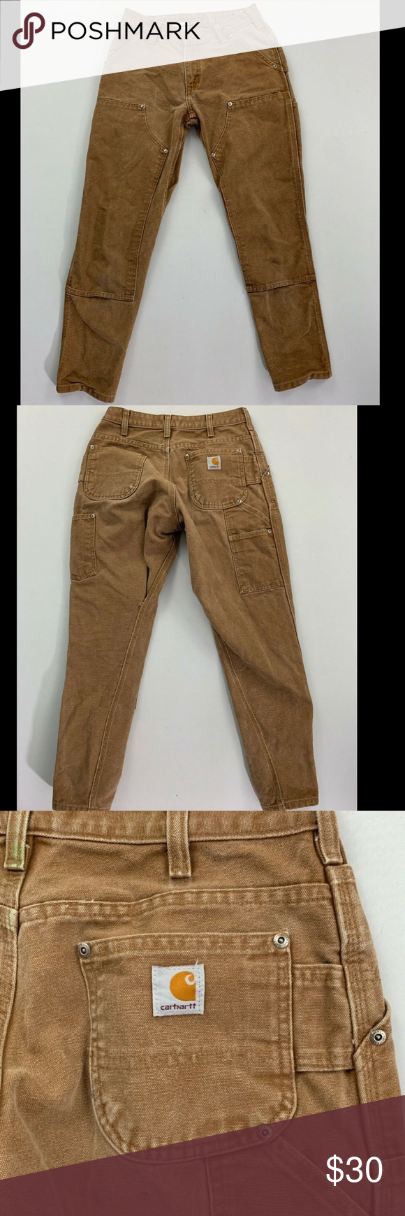 Carhartt Women's Brown Utility Jeans Size 28 Carhartt jeans    Size - 4    Color - brown    Condition - good condition    Measurements in inches:  Waist - 28  Inseam - 27    Please ensure the measurements are suitable and let us know if you have any questions    Thank you for shopping! Carhartt Jeans Straight Leg #carharttwomen Carhartt Women's Brown Utility Jeans Size 28 Carhartt jeans    Size - 4    Color - brown    Condition - good condition    Measurements in inches:  Waist - 28  Inseam - 27 #carharttwomen