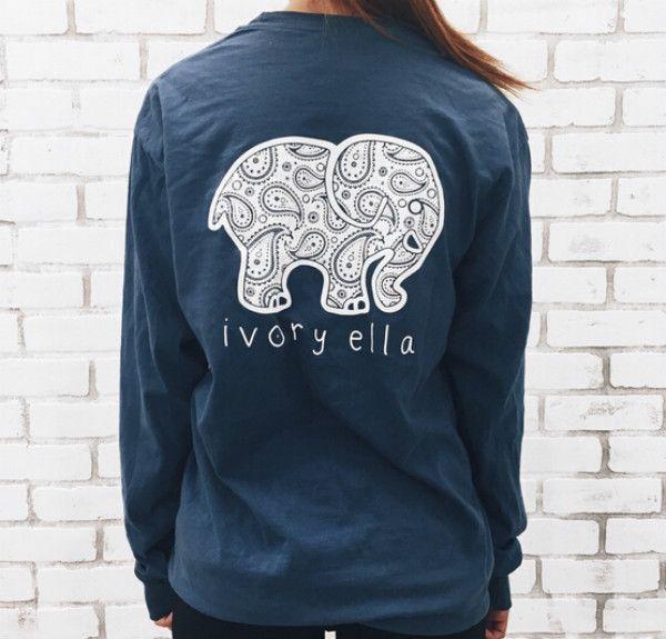 Women Cotton Tee Cute Elephant Animal Pattern Print long Sleeve Tank shirt Plus Size