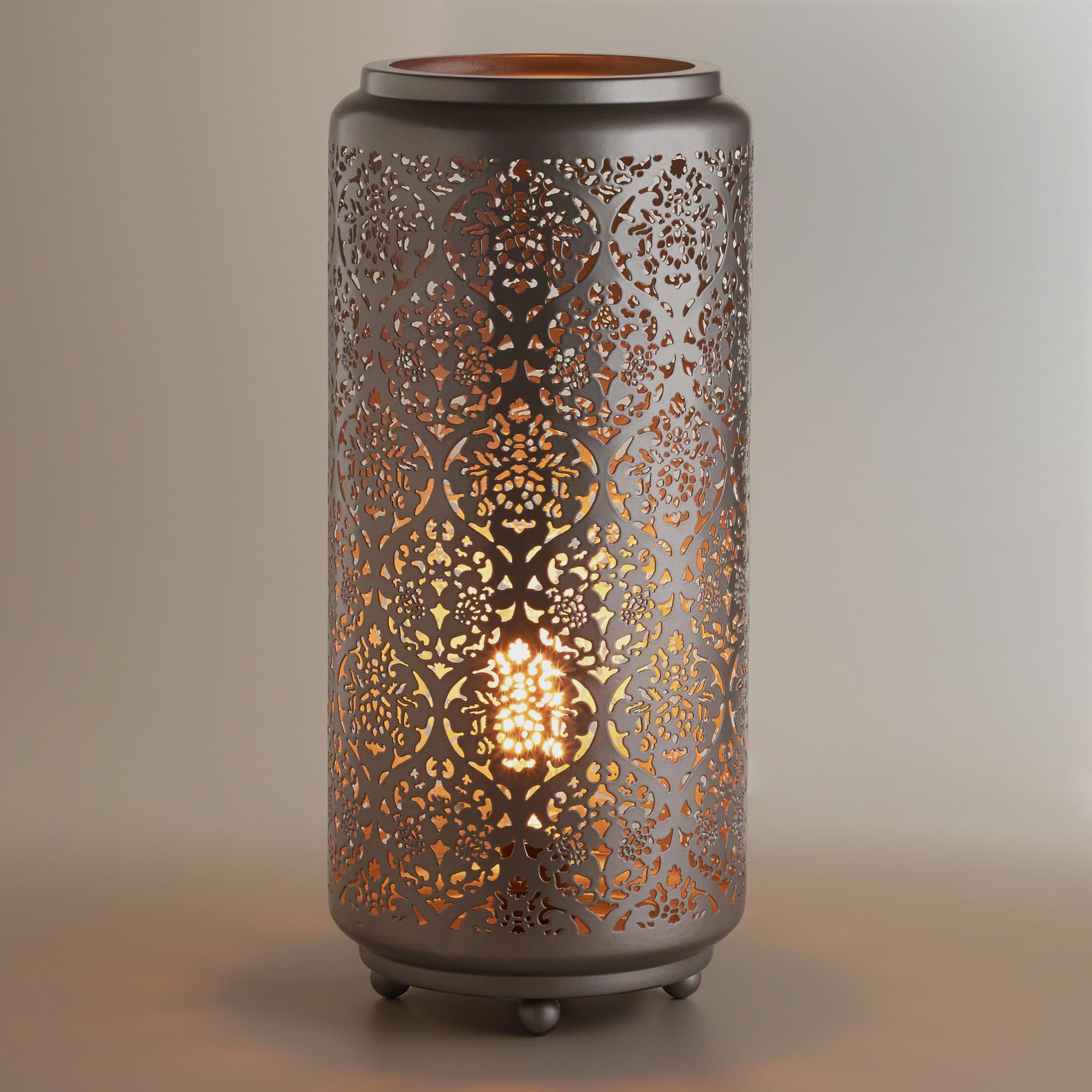 garden gold cylinder product shade shipping table lamp inch today hill watch home overstock linen modern free