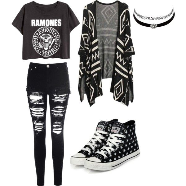 band girls look by aulonamulaj on Polyvore featuring polyvore fashion style Glamorous yeswalker Charlotte Russe