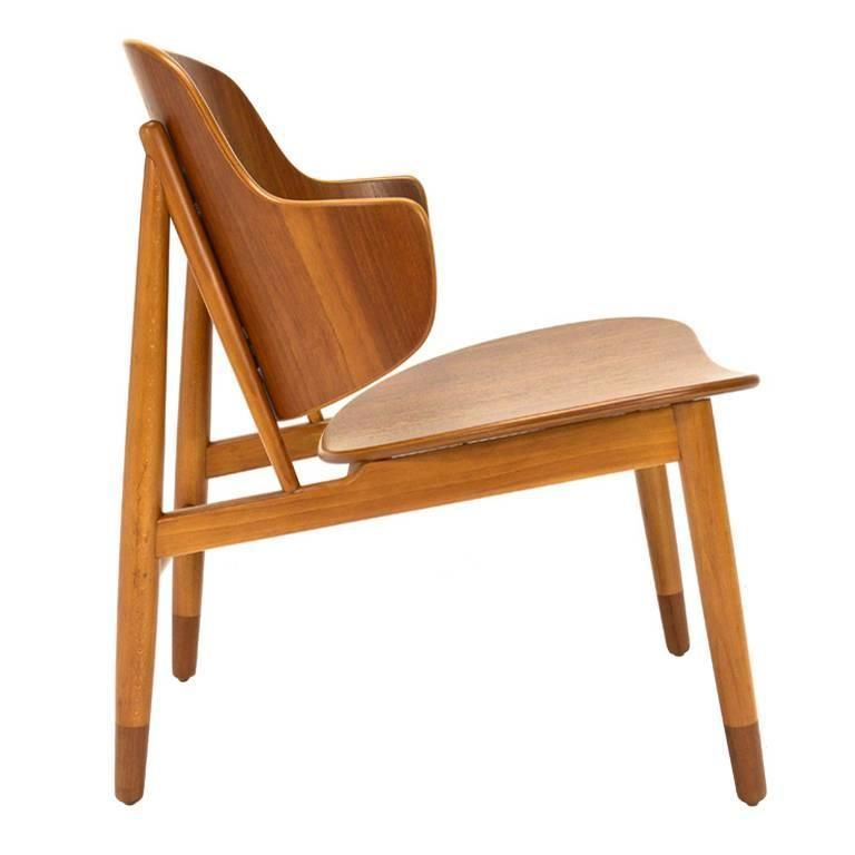Teak Shell Lounge Chair By Kofod Larsen 1stdibs Com Vintage Lounge Chair Danish Furniture Design Chair