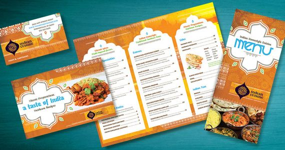 indian restaurant menu flyer ads and postcard ideas stocklayouts blog - Restaurant Menu Design Ideas