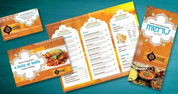 indian restaurant menu templates