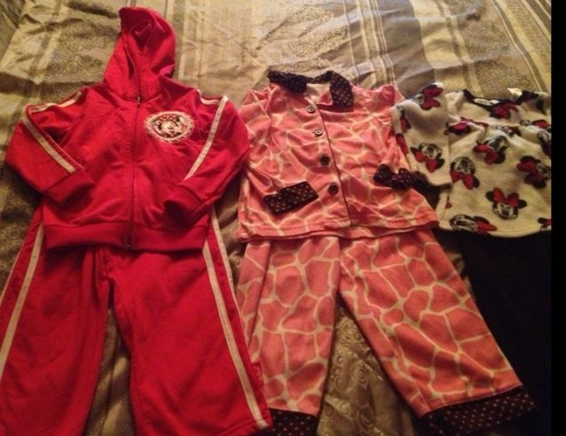 3T GIRLS LOT! 2 BRAND NEW OUTFITS WOT / 1 GENTLY USED PJ SET