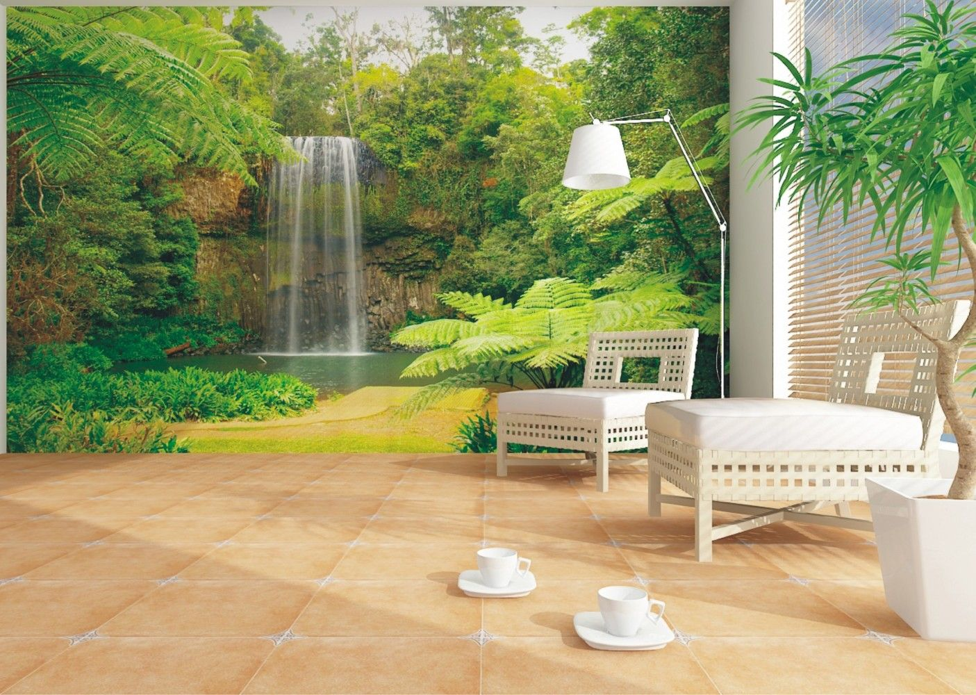 Wall murals nature this wallpaper photo brings the for Wallpaper for lounge wall