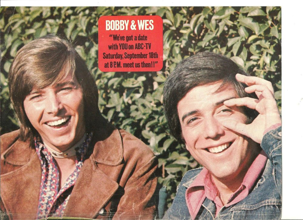 Bobby Sherman and Wes Stern, David Cassidy, Double Sided Full Page Vintage Pinup