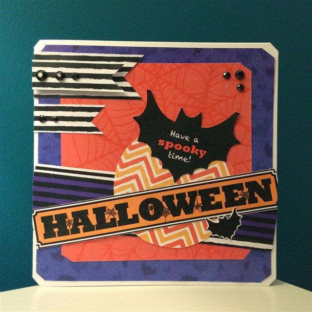 Have A Spooky Time Halloween Card   The Downloadable Halloween Papers Offer  A Vibrant Mix Of