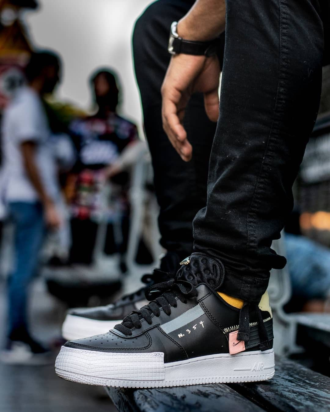 Air Force 1 Low Drop Type Black en 2020 | Nike air force