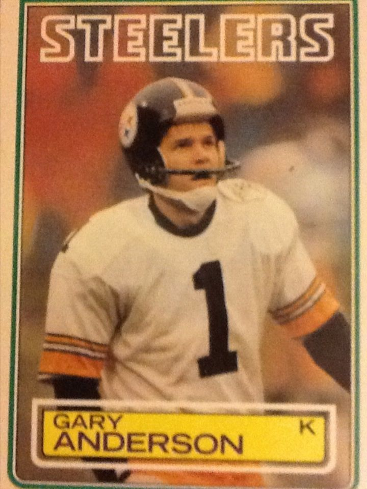 985d3661 Gary Anderson - 1982 Topps, Pittsburgh Steelers Football Card #356 ...
