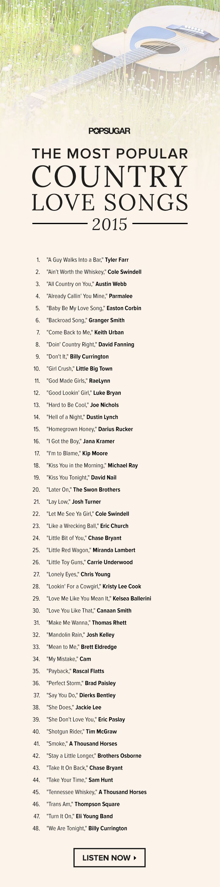 48 Hot Songs For Country Lovin Country Love Songs Country Music Songs