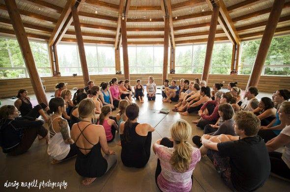 Yoga Jam at the Squamish Lil'watt Cultural Centre.