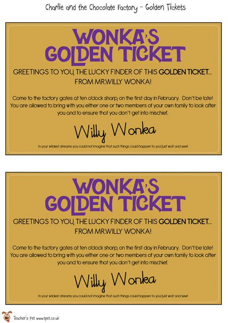 photograph about Printable Golden Tickets titled Lecturers Puppy - Printable Golden Tickets - Cost-free Clroom