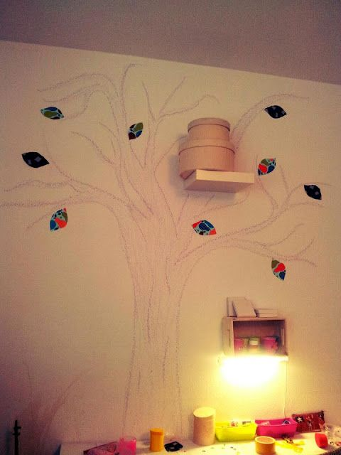 Wand Deko Baum   Tree Decoration