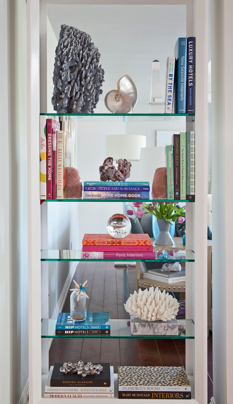mirrored bookshelf decor coastal mirrored bookshelf decor coastal book shelves Pinterest
