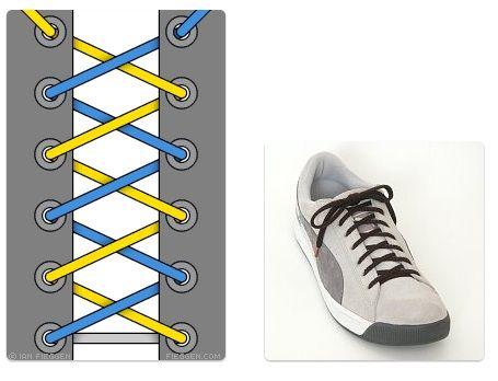 Cara Mengikat Tali Sepatu Sepatu Model Sepatu Tali