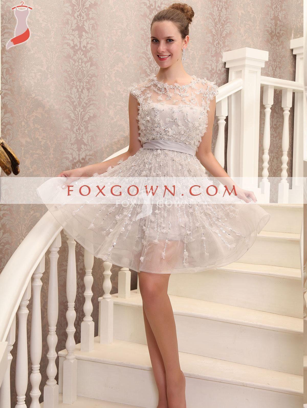 2013 Luxus Cocktail Kleid mit Friesen Blume Detail 💟$224.99 from ...