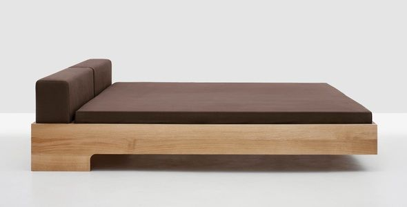 the doze a floating bed made of solid wood doobybraincom low bed framefloating - Low Wood Bed Frame