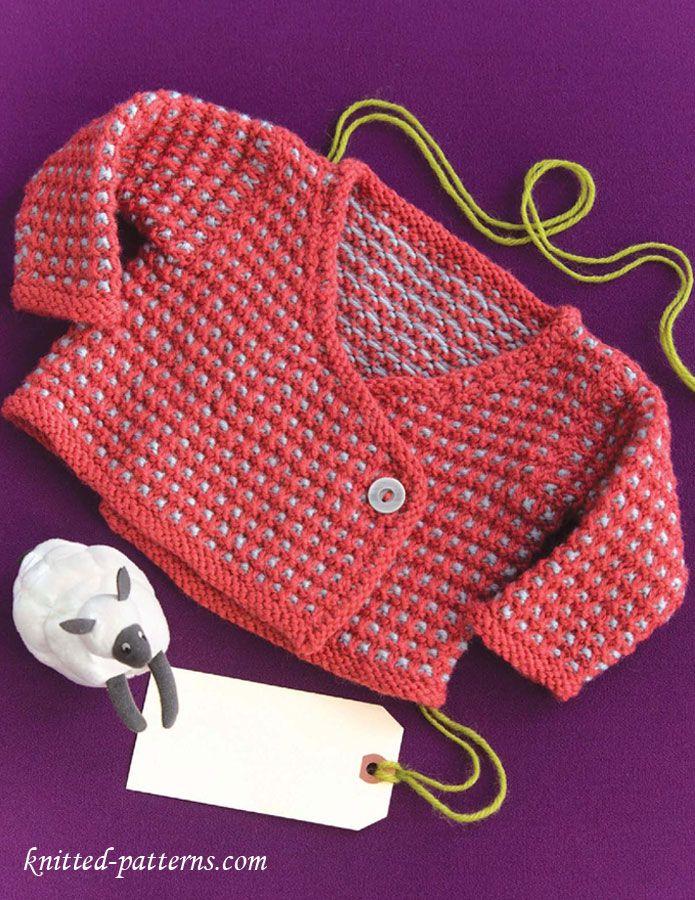 Baby kimono knitting pattern free | BEBÉS | Pinterest | Bebé, Dos ...