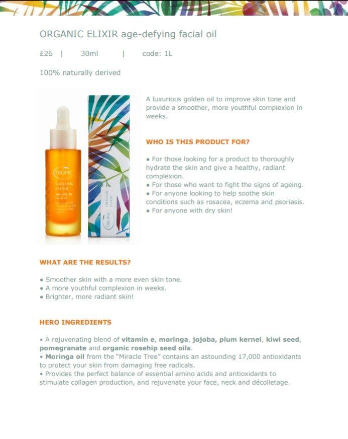 Tropic Organic Elixir Age-Defying Oil | Tropic Online Shop