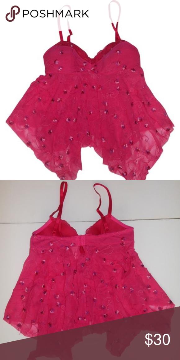 c288776dba103 Nwt Victoria's Secret Pink Floral Lingerie Top S Nwt Victoria's ...