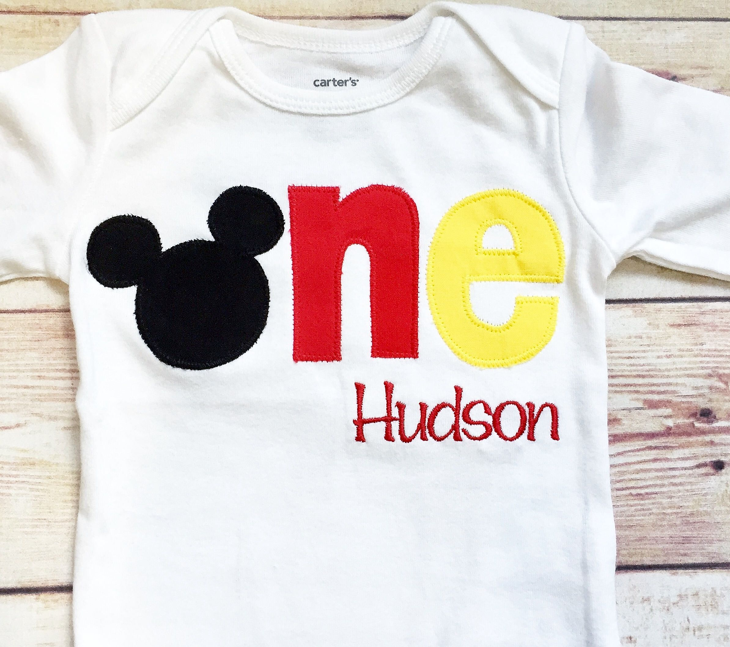 Mickey Mouse Inspired One Shirt For 1st Birthdays