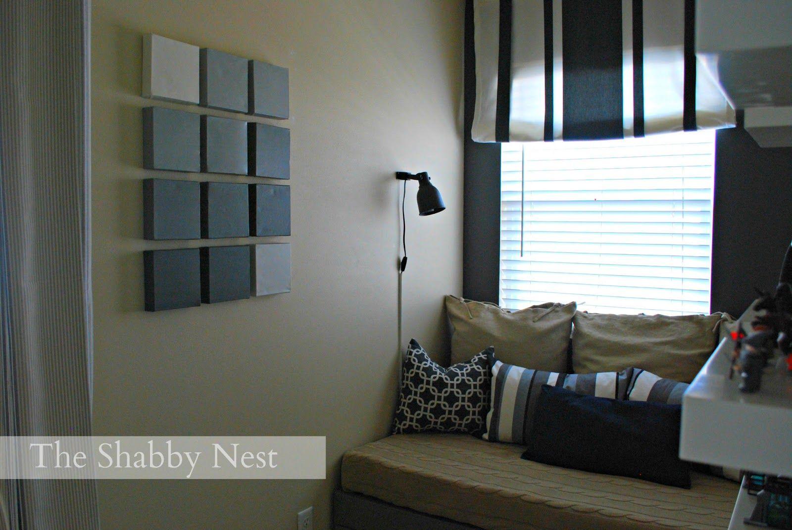 The shabby nest gray scale canvas wall art diy artwork